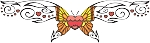 Decorative Butterfly Color Decal 9