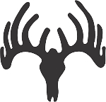 deer skull 10 decal