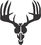 deer skull 11 decal