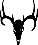 deer skull 3 decal