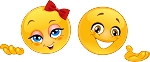 Girl and Boy Emoji 2 Decal