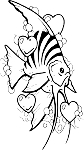Tropical Fish Decal 10