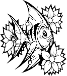 Tropical Fish Decal 6
