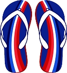 Flip Flop Colored Decal 12