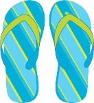 Flip Flop Colored Decal 1