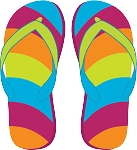 Flip Flop Colored Decal 4
