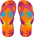 Flip Flop Colored Decal 5