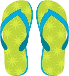 Flip Flop Colored Decal 6