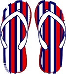 Flip Flop Colored Decal 8