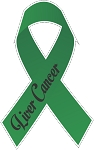 liver cancer ribbon  decal 1