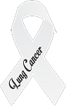 lung cancer ribbon decal 1