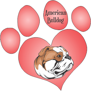 American Bulldog Dog Decal