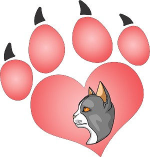 cat paw 191 decal