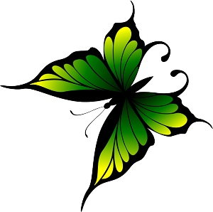 Colored Butterfly Decal 22