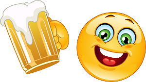 Beer Drinking Emoji 105 decal