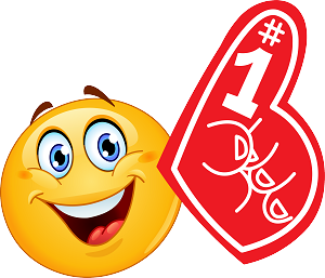 Foam Finger Emoji 113 Decal