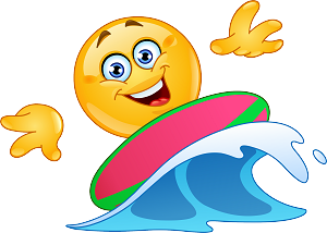 Surfing emoji 138 decal
