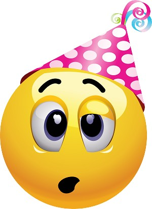 party hat emoji 164 decal