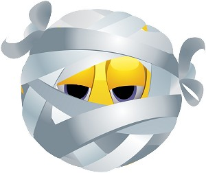 mummy emoji 167 decal