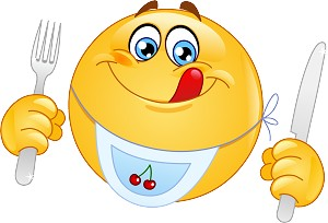 Ready To Eat Emoji 4 Decal