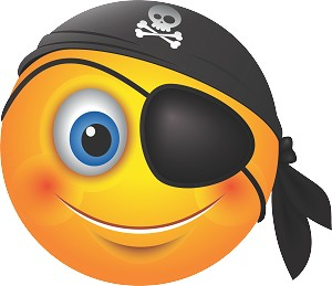 Pirate Emoji 48 Decal