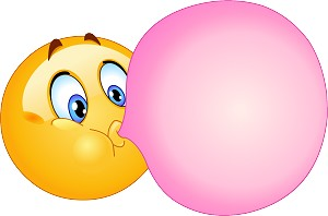 Bubble gum Emoji 73 Decal