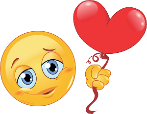 Heart Balloon Emoji 89 Decal