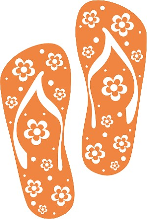 Flip Flop Colored Decal 44