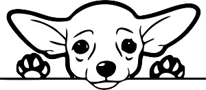 Peeking Dog Decal 19