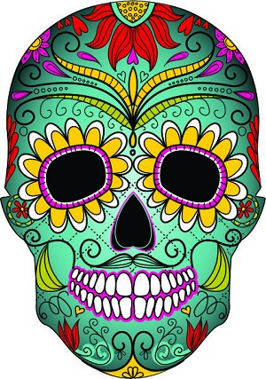 Sugar Skull Decal 5