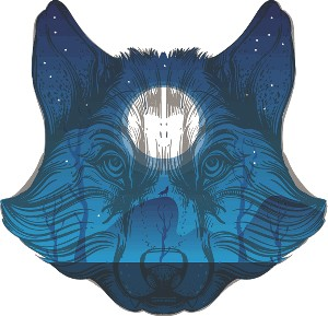 Scenery Wolf Decal 1